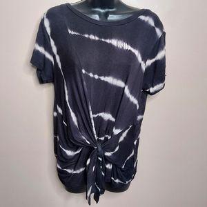 Emelia front tie tie dye short sleeve shirt